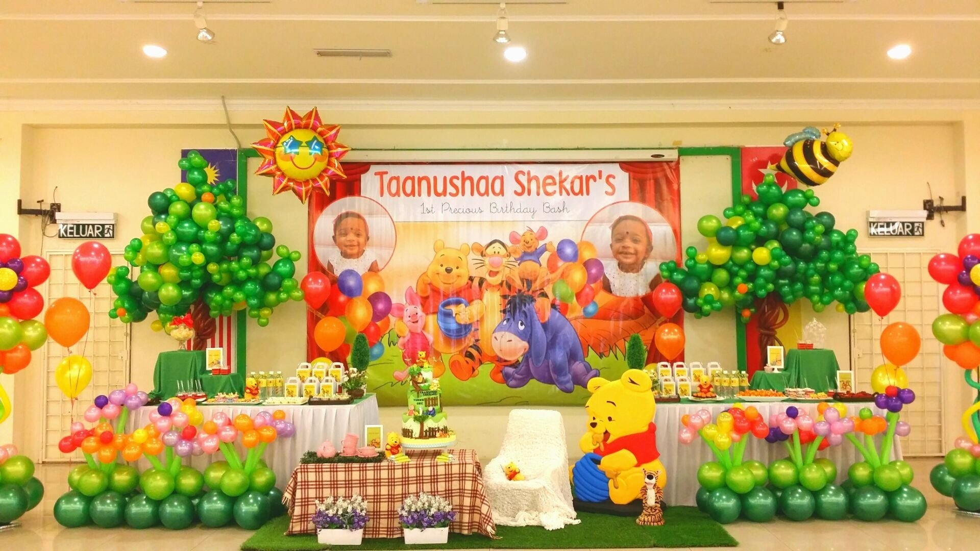 10 Stylish Winnie The Pooh Birthday Ideas winnie the pooh theme table centerpiece winnie the pooh birthday 2021