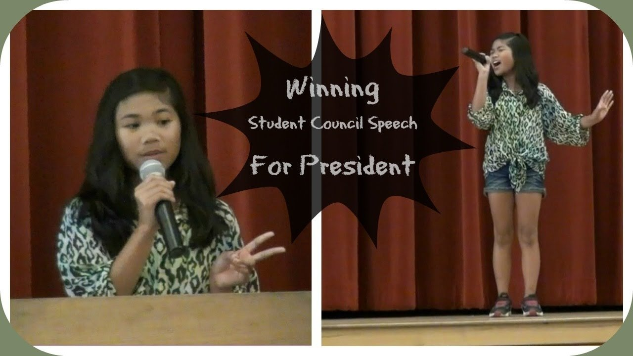 10 Attractive 5Th Grade Student Council Ideas winning student council speech for president charisma joy youtube 1 2020