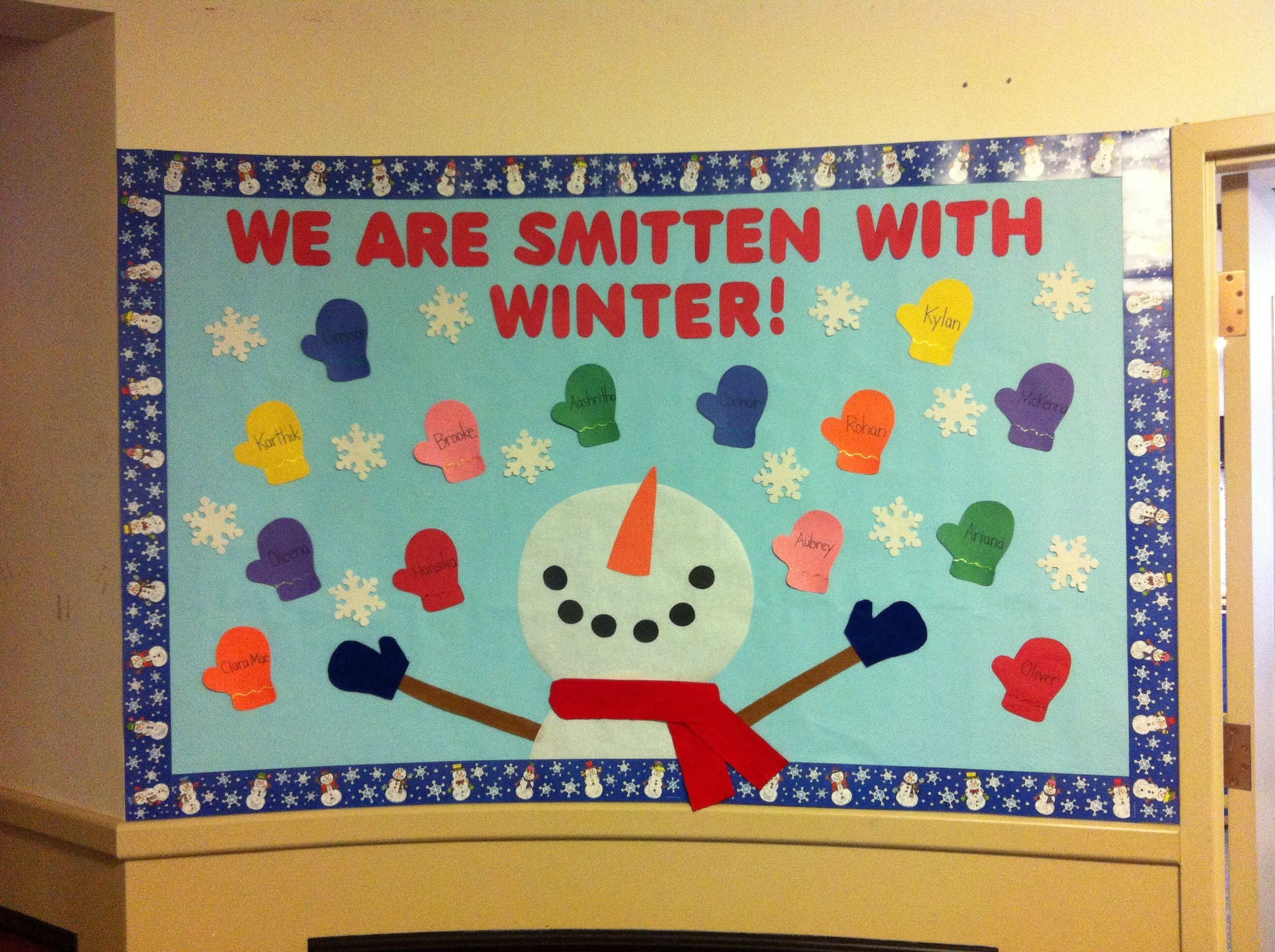 10 Stylish January Bulletin Board Ideas For Teachers winter bulletin board we are smitten with winter and the mittens 1 2021