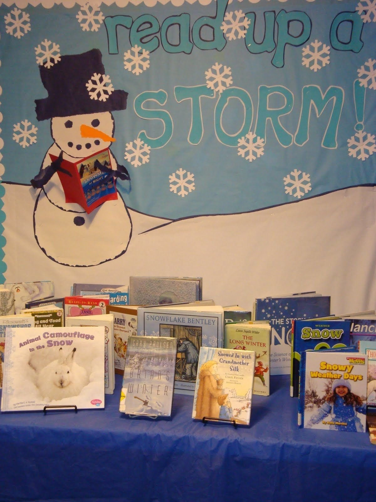 10 Attractive Winter Library Bulletin Board Ideas winter library displays the childrens room read up a storm 2020