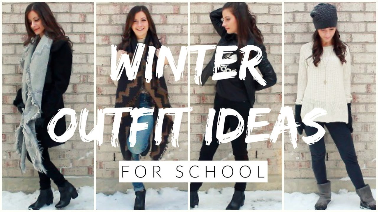 winter outfit ideas for school - youtube
