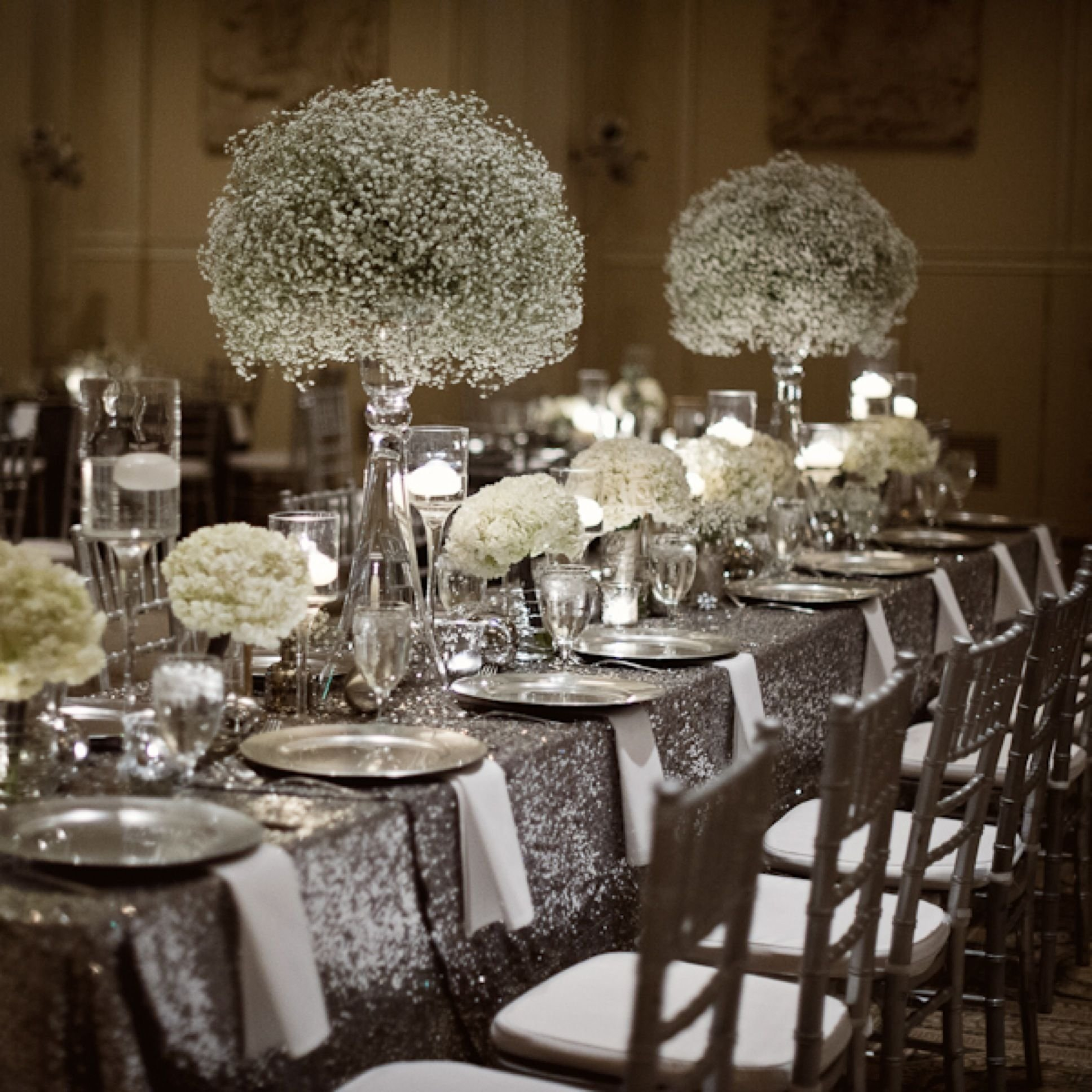 10 Trendy Black And Silver Wedding Ideas winter wedding sparkle blog zest floral and event design 50th 2020