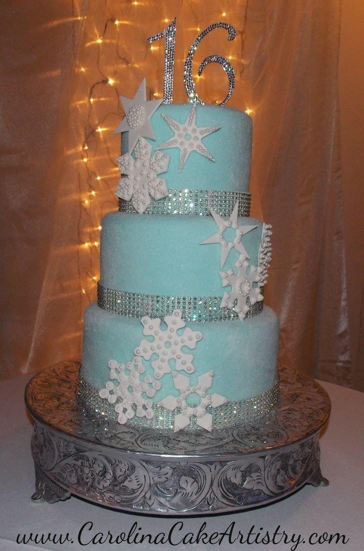 10 Fabulous Winter Wonderland Sweet 16 Ideas winter wonderland sweet 16 dresses sweet 16 snowflake cake 2020