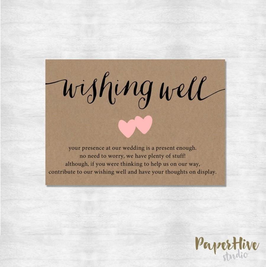 10 Stylish Wishing Well Ideas For Bridal Shower wishing well card rustic wishing well card printable digital 2021