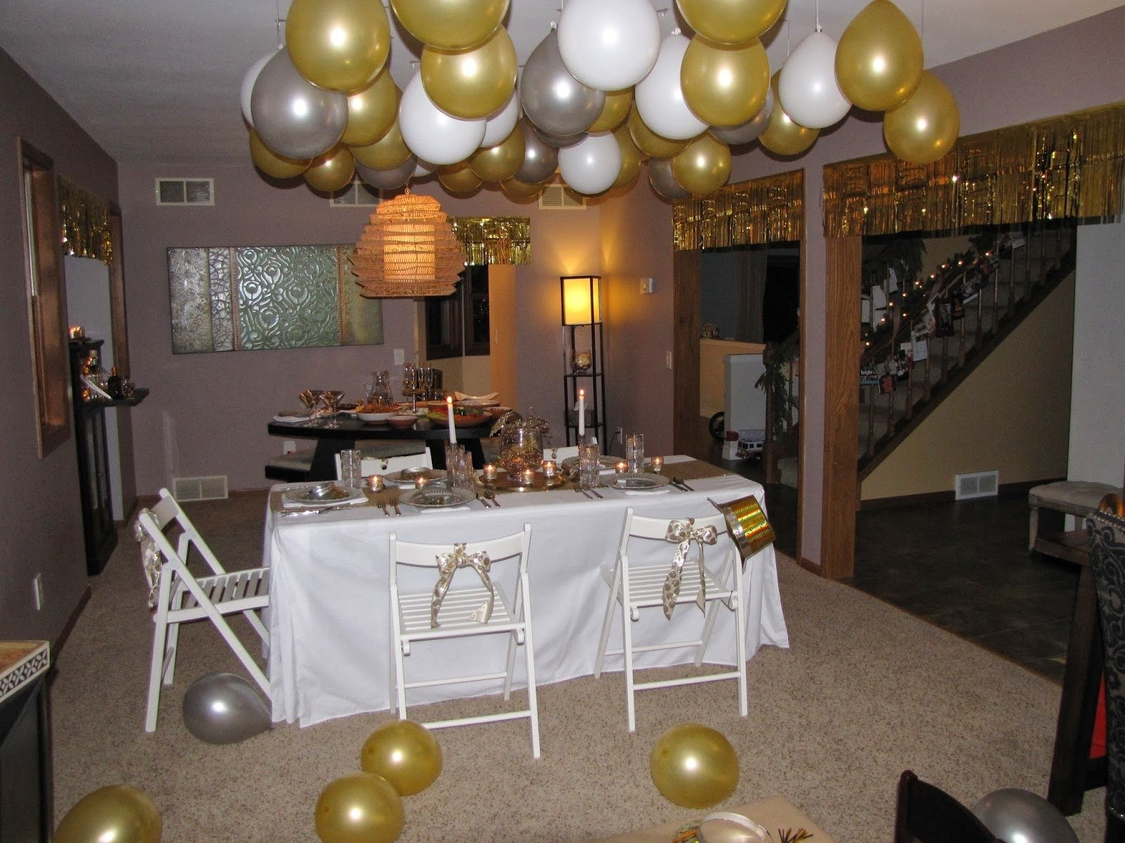 10 Great New Year Party Ideas At Home wispy house gold silver new years eve party 2021