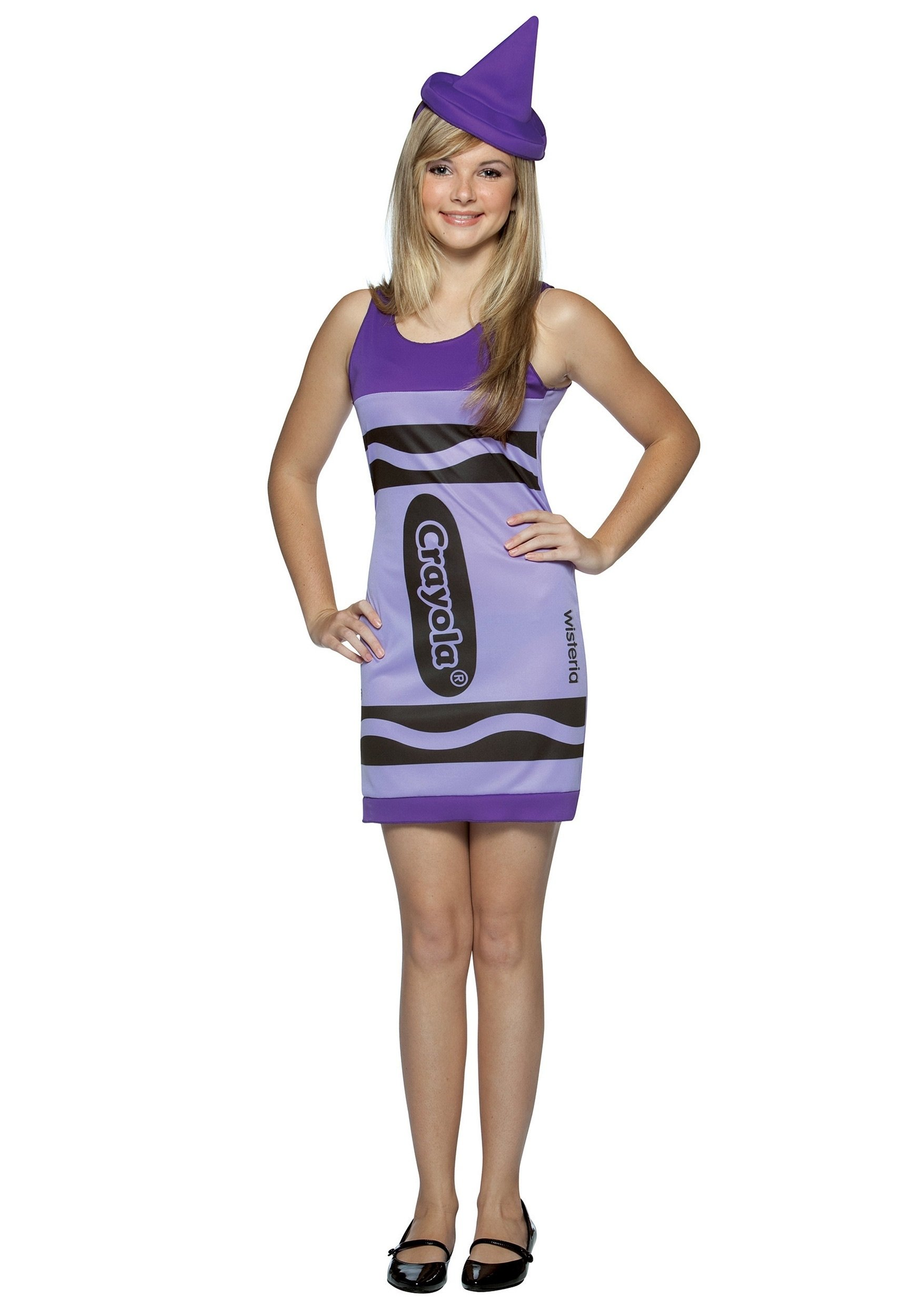 wisteria teen crayon costume - halloween costume ideas for teens