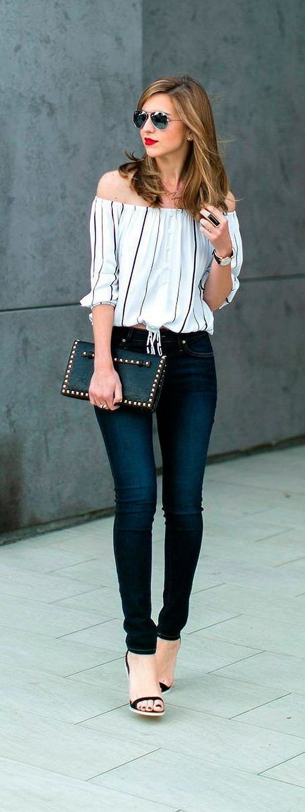 10 Cute Cute Outfit Ideas With Jeans with skinny jeans cute summer outfit ideas how to wear off the 2020