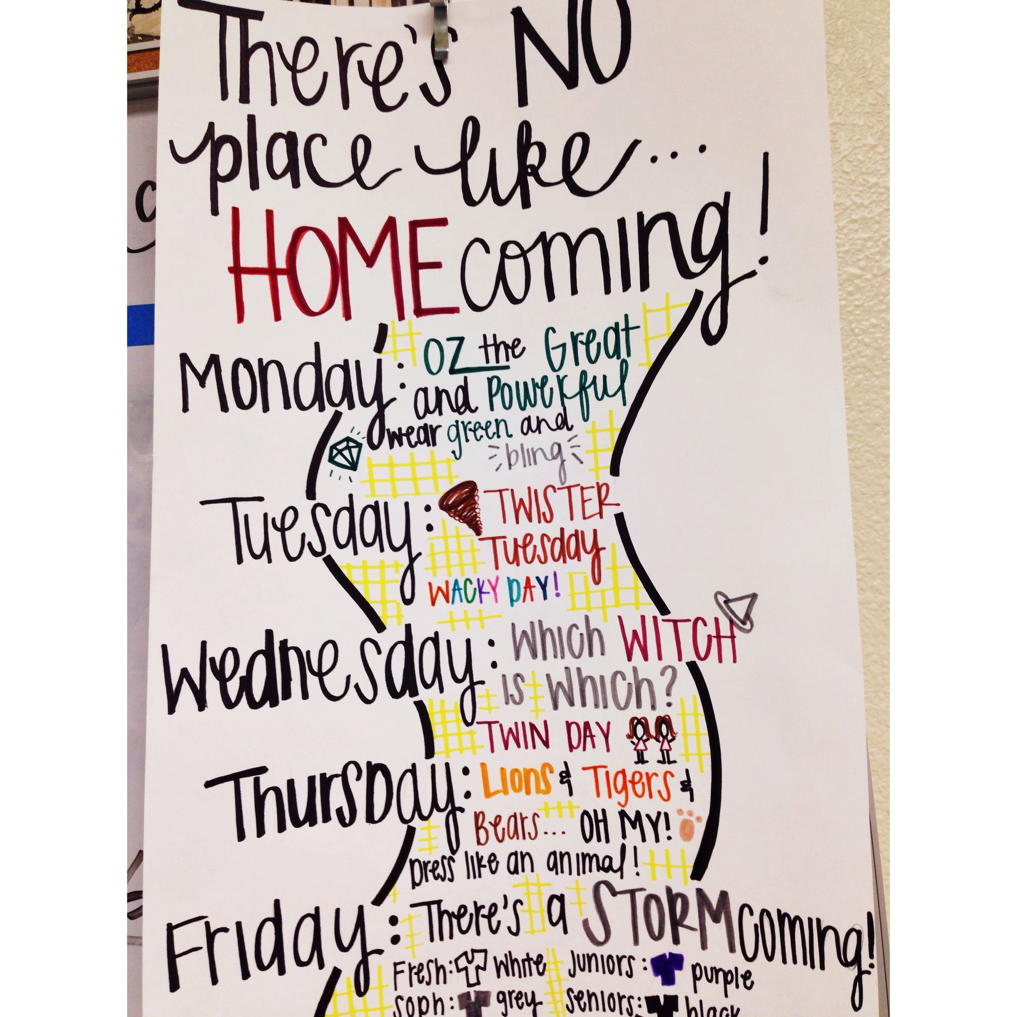 10 Gorgeous Homecoming Dress Up Day Ideas wizard of oz homecoming theme idea student council pinterest 4 2021