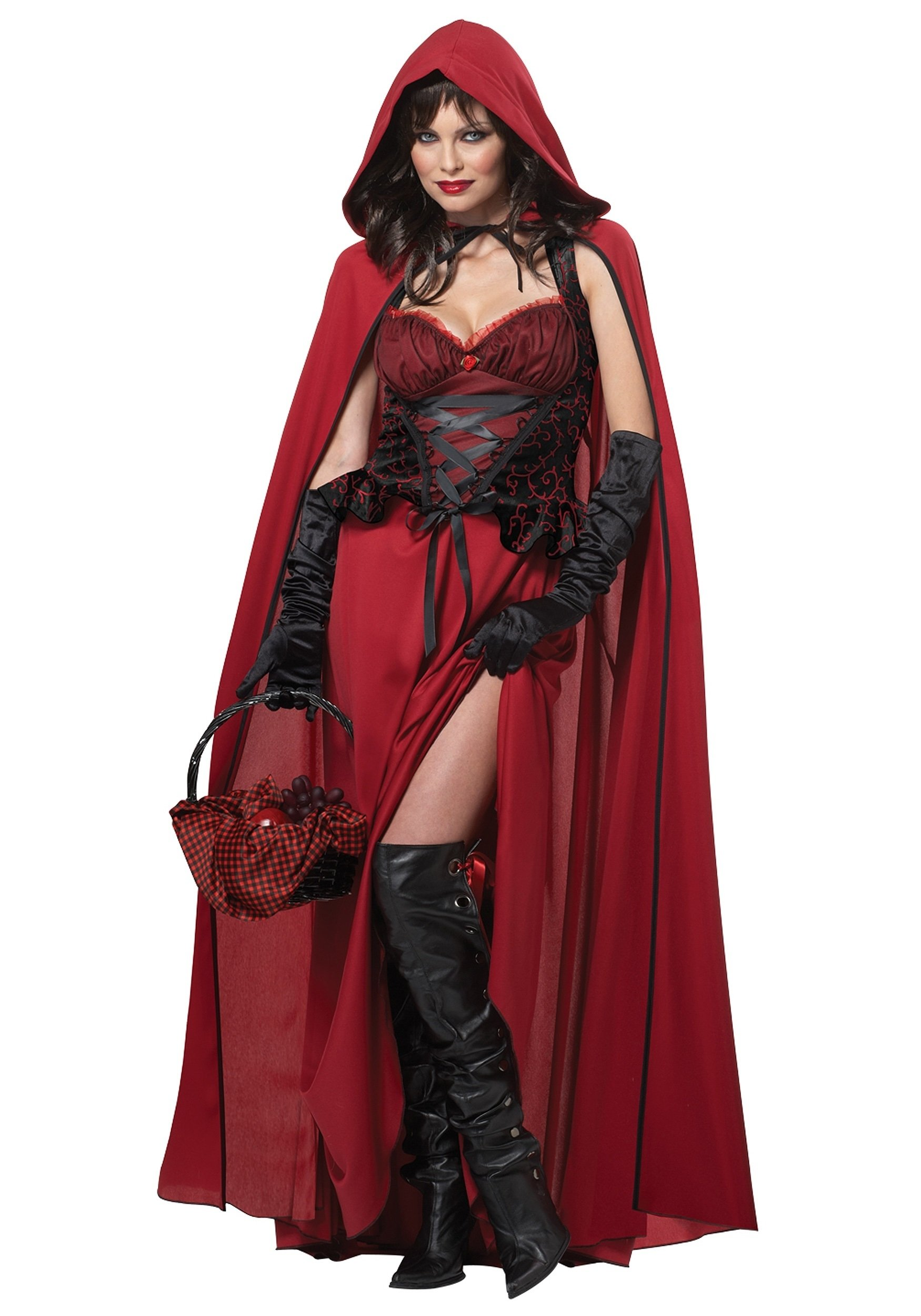 10 Trendy Red Riding Hood Costume Ideas womens dark red riding hood costume 2020