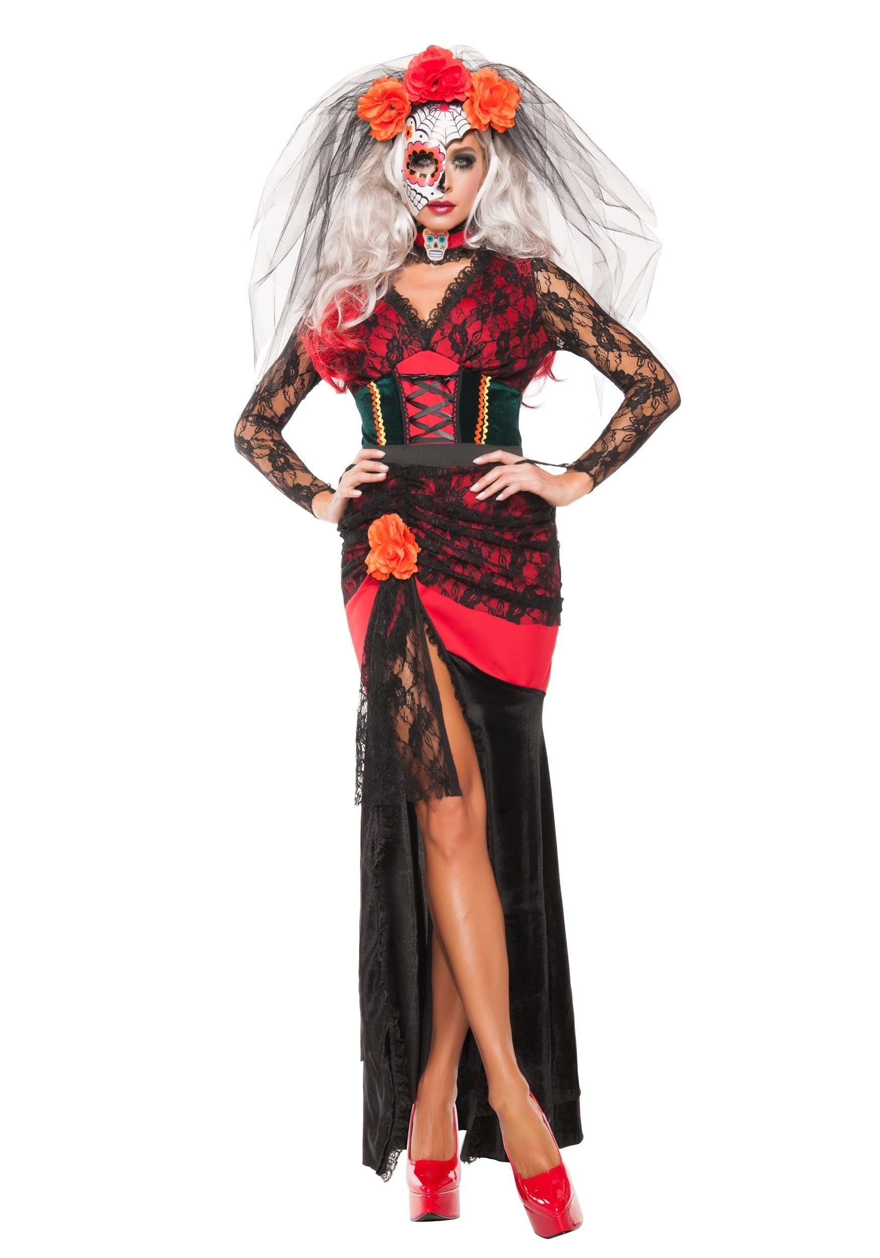 10 Nice Day Of The Dead Costumes Ideas womens day of the dead darling costume 1 2020