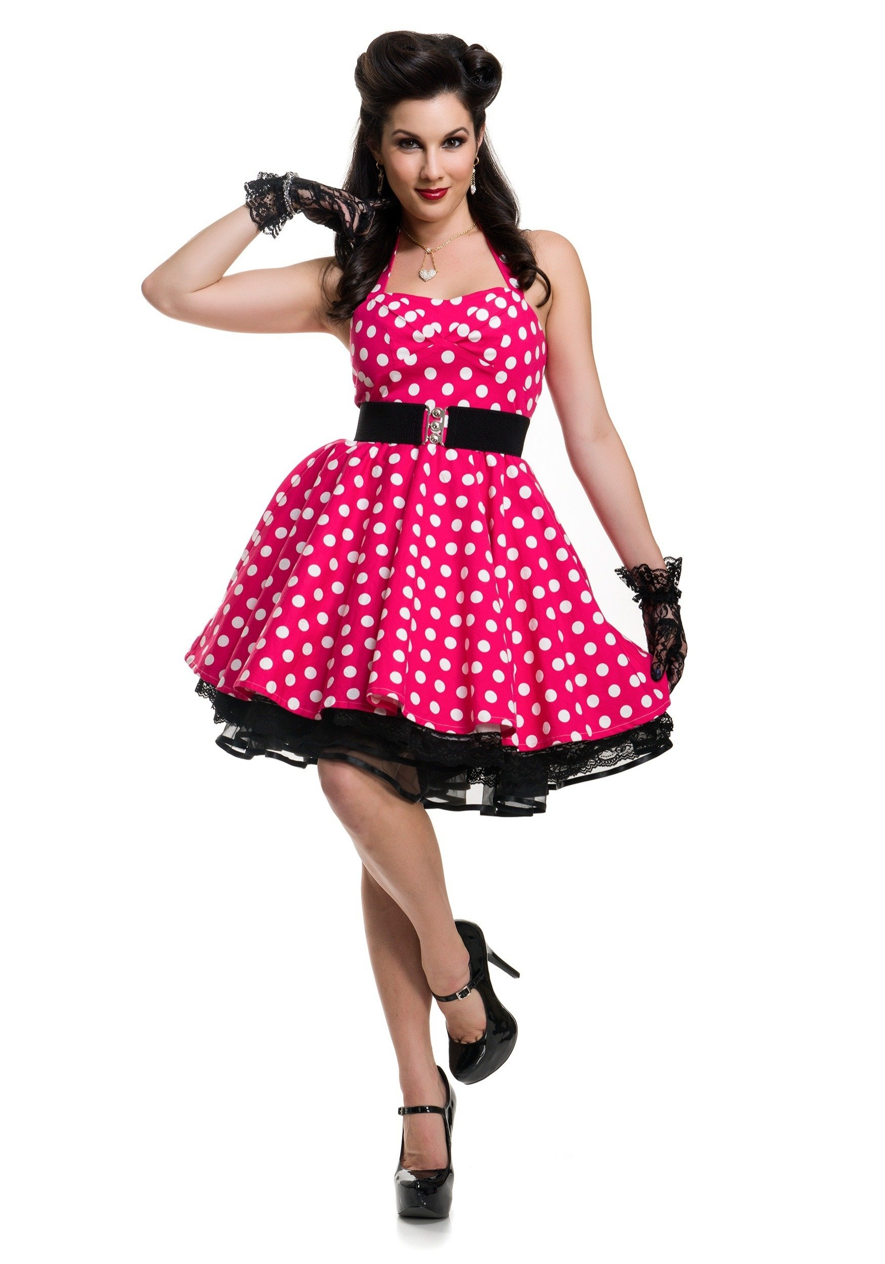 10 Stunning Pin Up Girl Outfit Ideas womens pink polka dot pin up costume 3