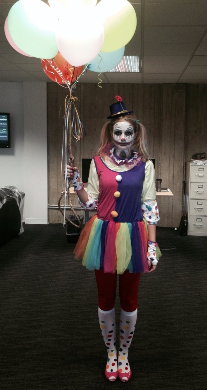10 Unique Homemade Scary Halloween Costume Ideas womens scary clown halloween costume ah lets play dress up 1