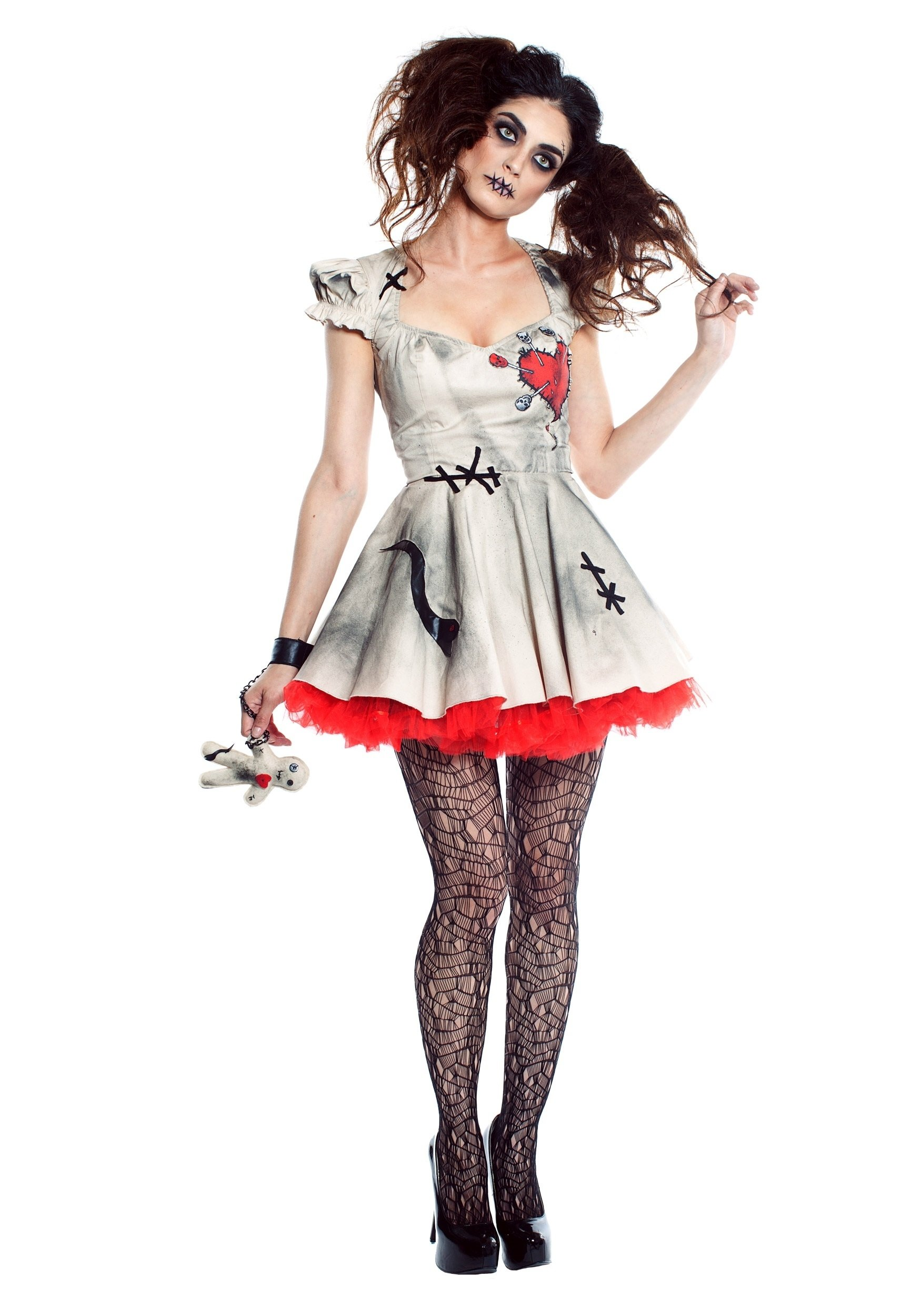 10 great creepy doll halloween costume ideas womens voodoo doll costume 3