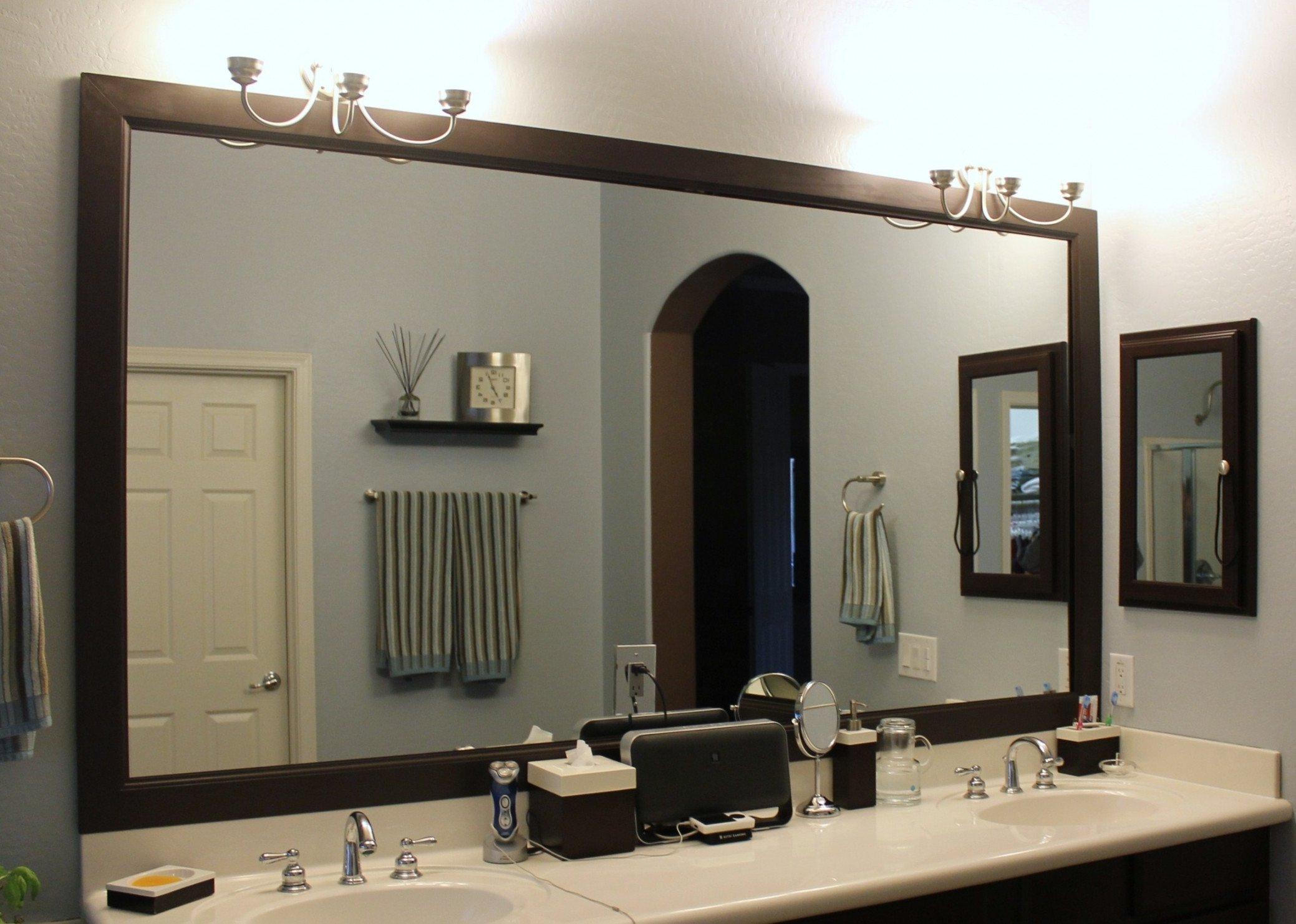 10 Lovable Diy Bathroom Mirror Frame Ideas wonderful framed bathroom mirrors ideas diy bathroom mirror frame 2020