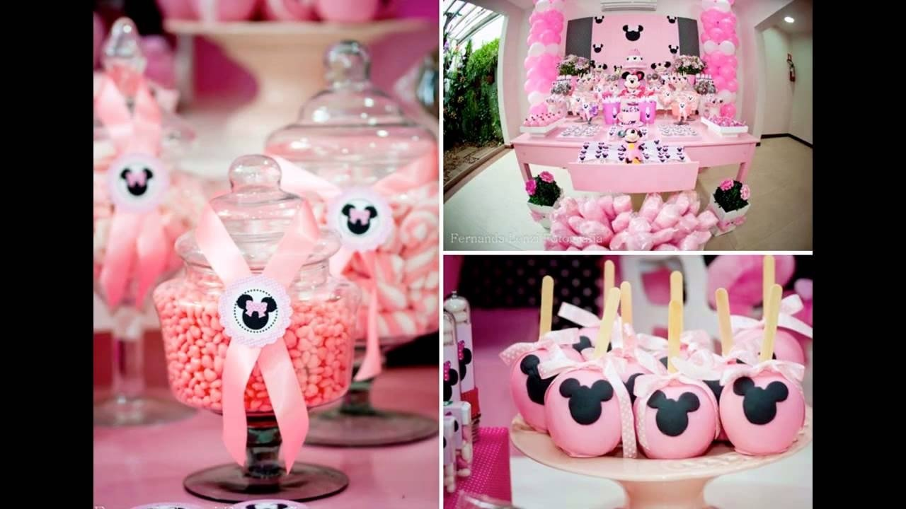10 Fashionable Baby Minnie Mouse 1St Birthday Party Ideas wonderful minnie mouse 1st birthday party decoration youtube 1
