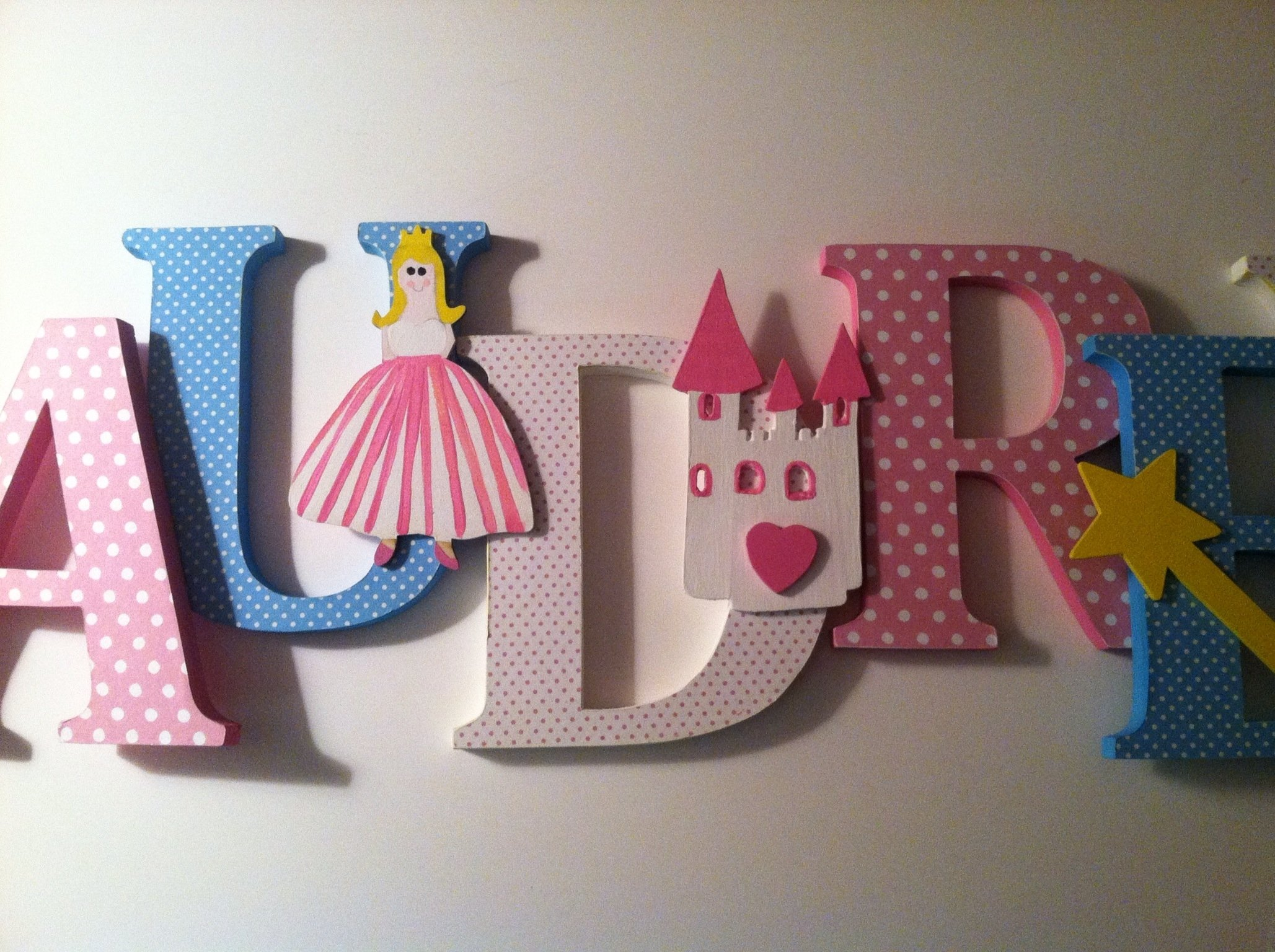 wood letter wall decor elegant princess themed wooden letters