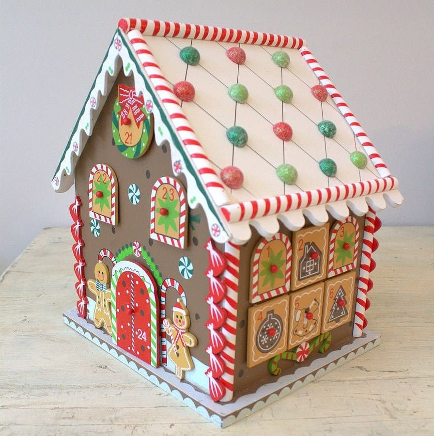 10 Wonderful Gingerbread House Ideas For Kids wooden gingerbread house advent calendar gingerbread christmas 2020