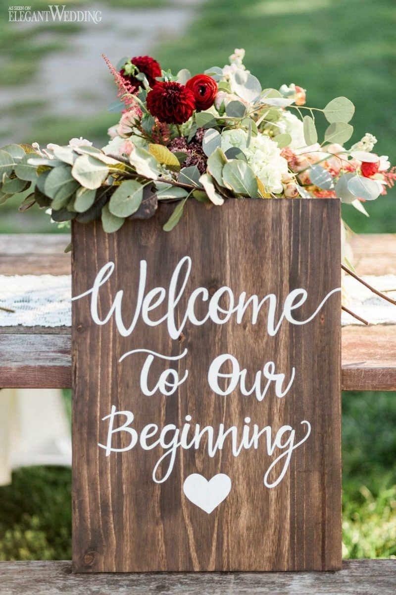 10 Stylish Vintage Wedding Ideas For Fall wooden wedding sign vintage wedding decor victorian wedding 1 2020