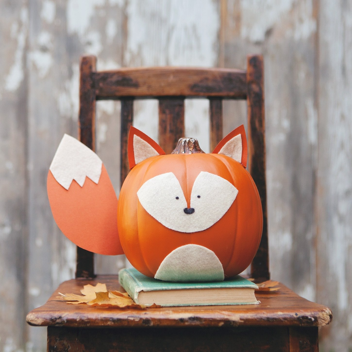 10 Beautiful Easy Pumpkin Decorating Ideas Without Carving Pumpkin woodland creature no carve pumpkins 2 2020