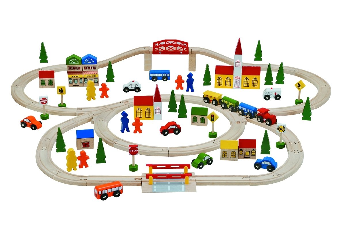 10 Wonderful Birthday Gift Ideas For 3 Year Old Boy woodpal rakuten global market rail amp train set 2 100 pcs 2020