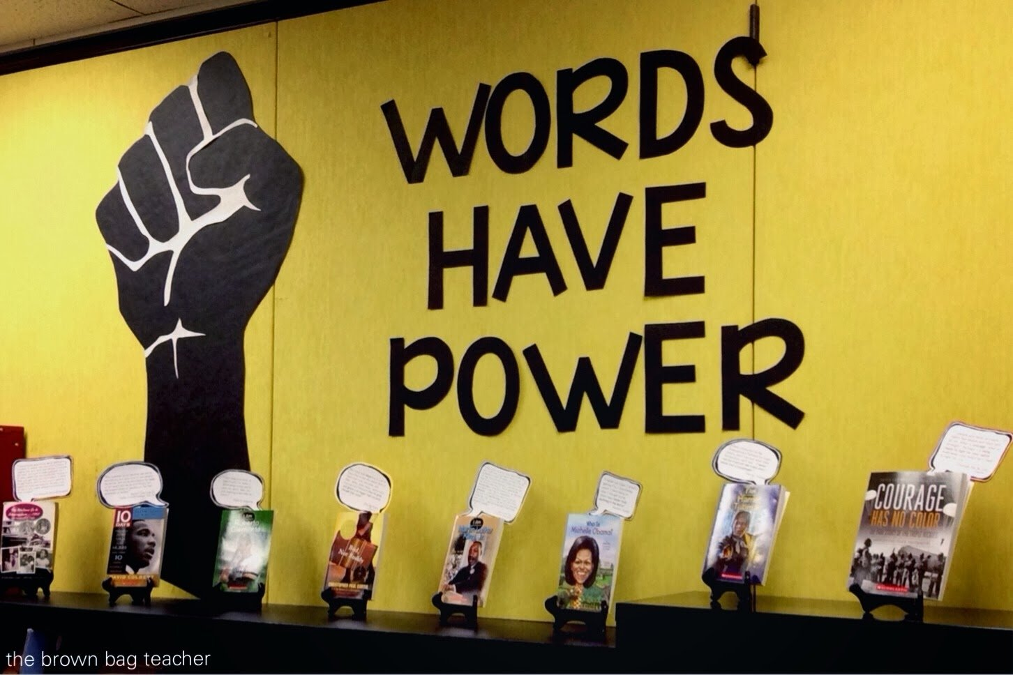 10 Fabulous Black History Month Bulletin Board Ideas words have power book display the brown bag teacher 1 2021