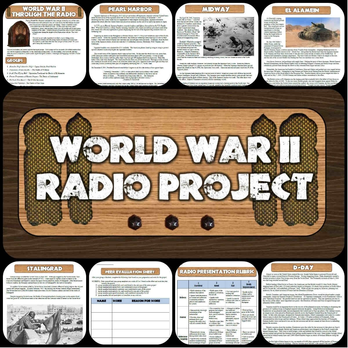 10 Unique History Project Ideas For Middle School world war ii battles radio show project cooperative learning 3