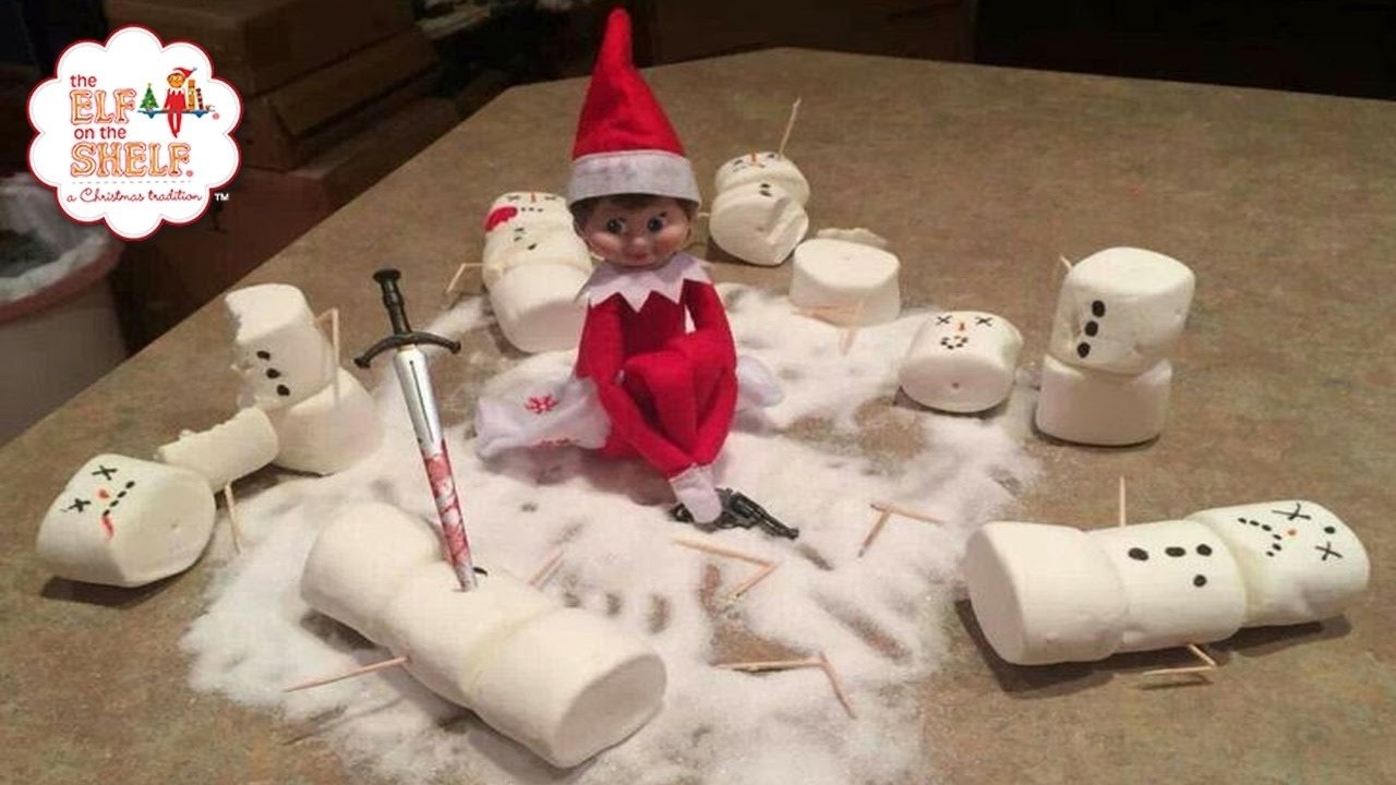 10 Stylish Funny Elf On The Shelf Ideas worst elf on the shelf ideas ever 2 youtube 2021