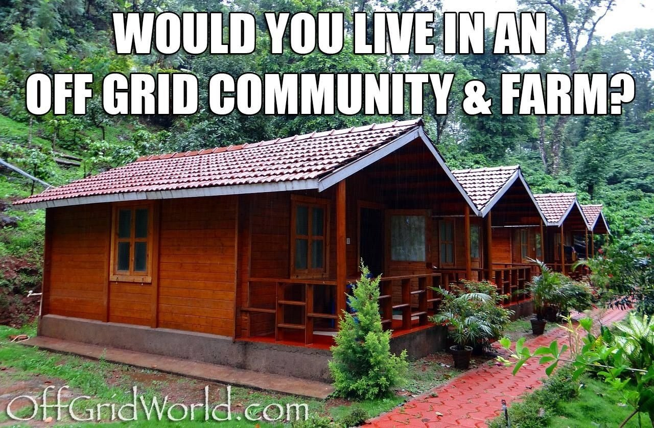 would you live in an off grid community & farm? | community