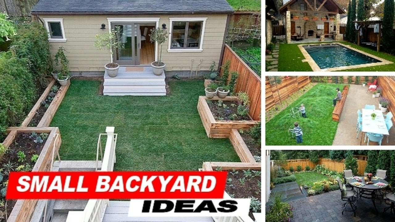 10 Wonderful Ideas For A Small Backyard wow small backyard ideas with grass youtube