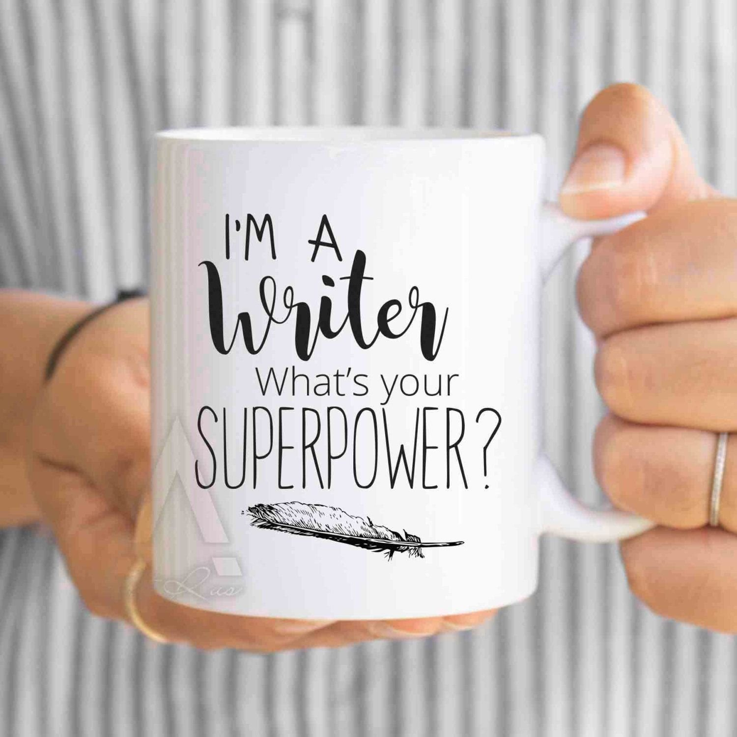 10 Trendy Gift Ideas For A Writer writer gift writer mug im a writer whats your superpower 2020