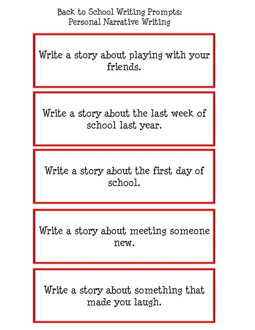 10 Stylish Ideas To Write A Story About writing prompts for elementary school made it monday back to 2020