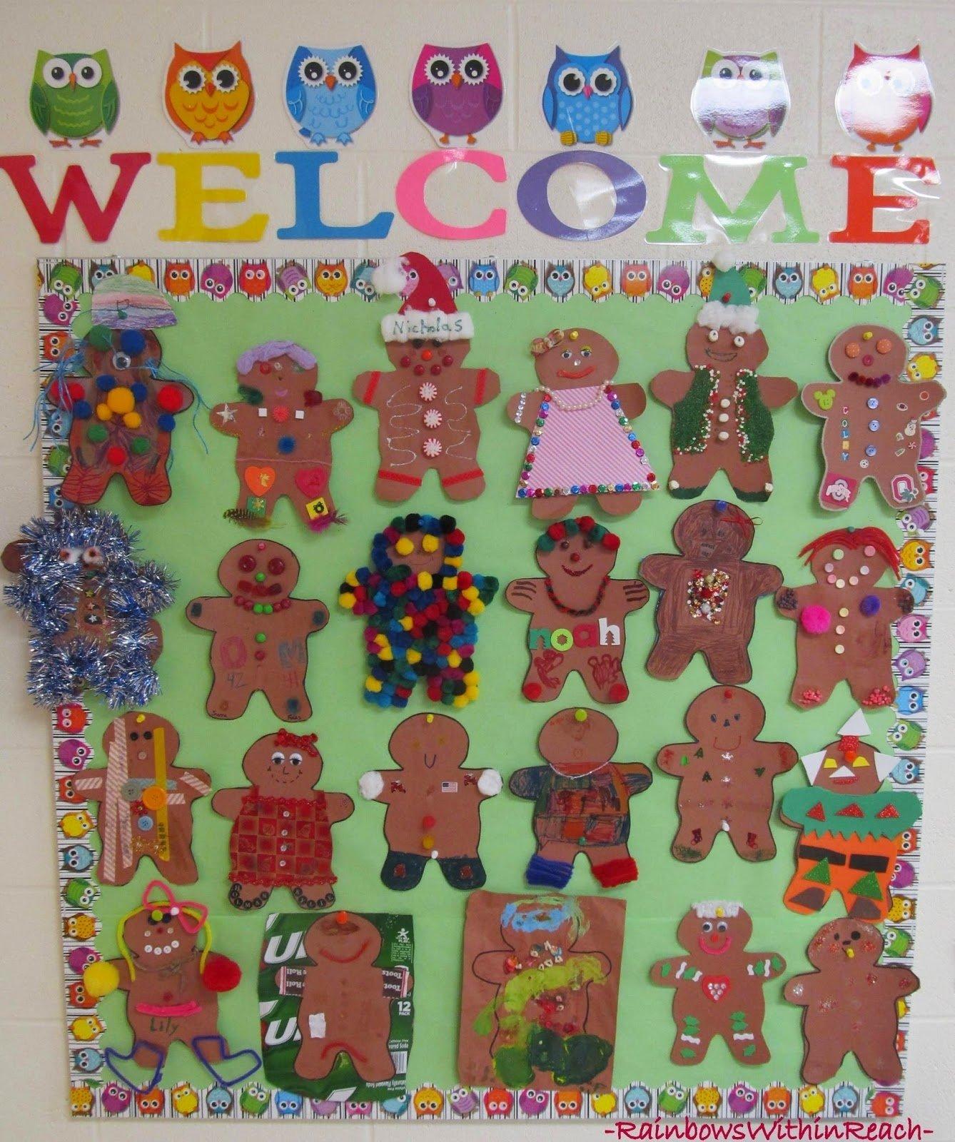 10 Perfect Gingerbread Man Bulletin Board Ideas www rainbowswithinreach blogspot 7 2020