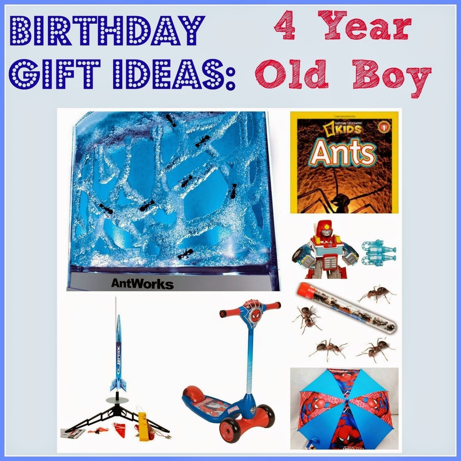 10 Fabulous Gift Ideas For 4 Year Old Boy Birthday Home