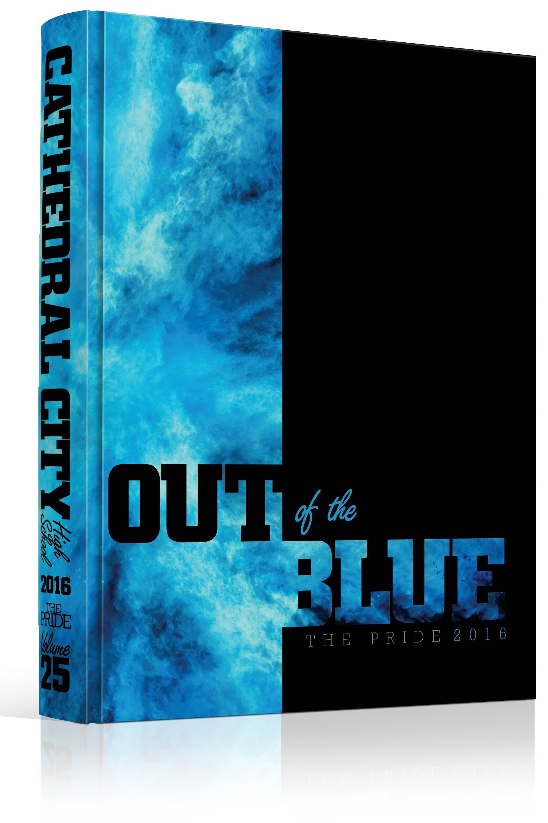 10 Wonderful High School Yearbook Theme Ideas yearbook cover cathedral city high school out of the blue 2021