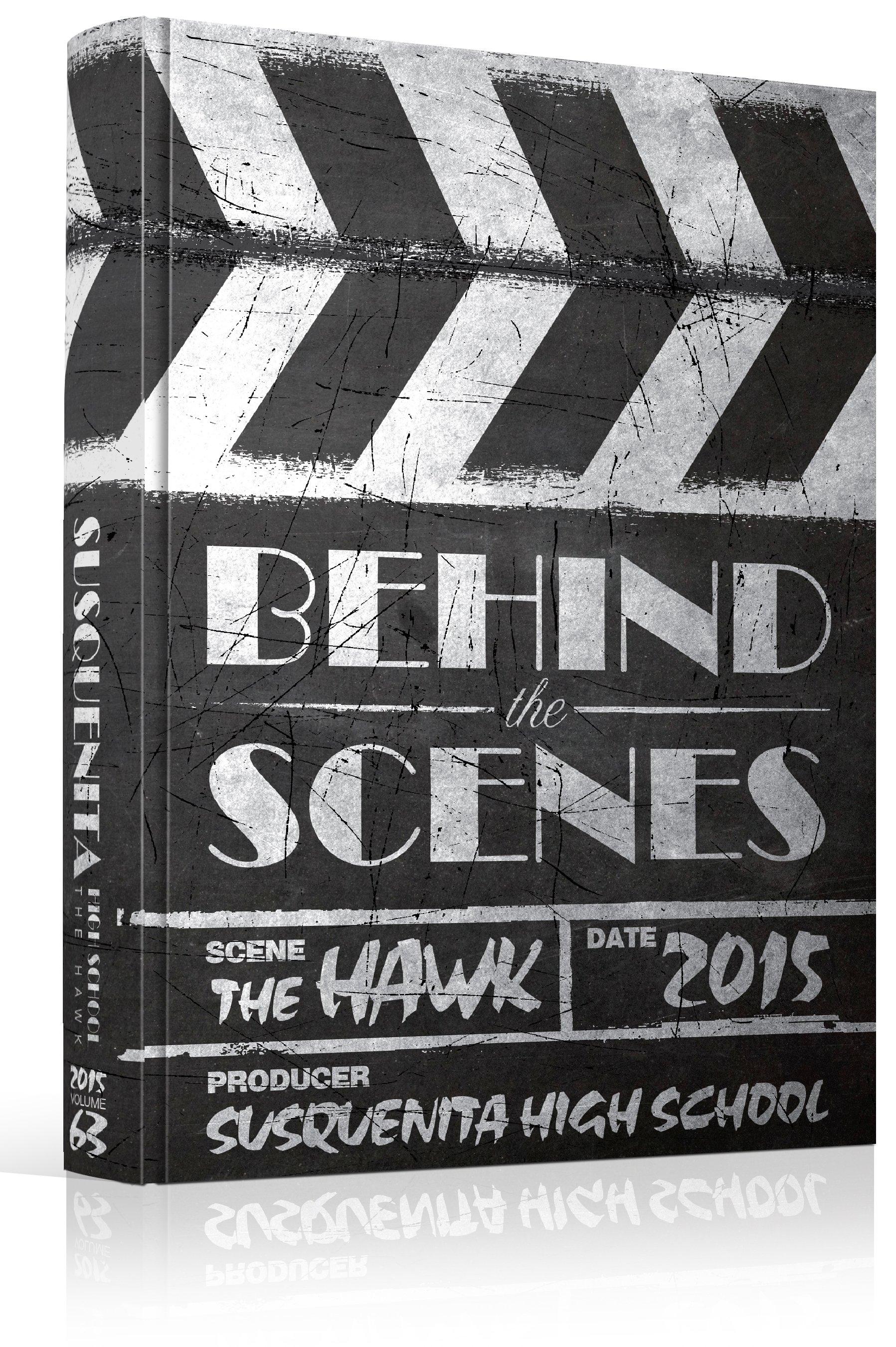 "yearbook cover - unused - ""behind the scenes"" theme - movie"