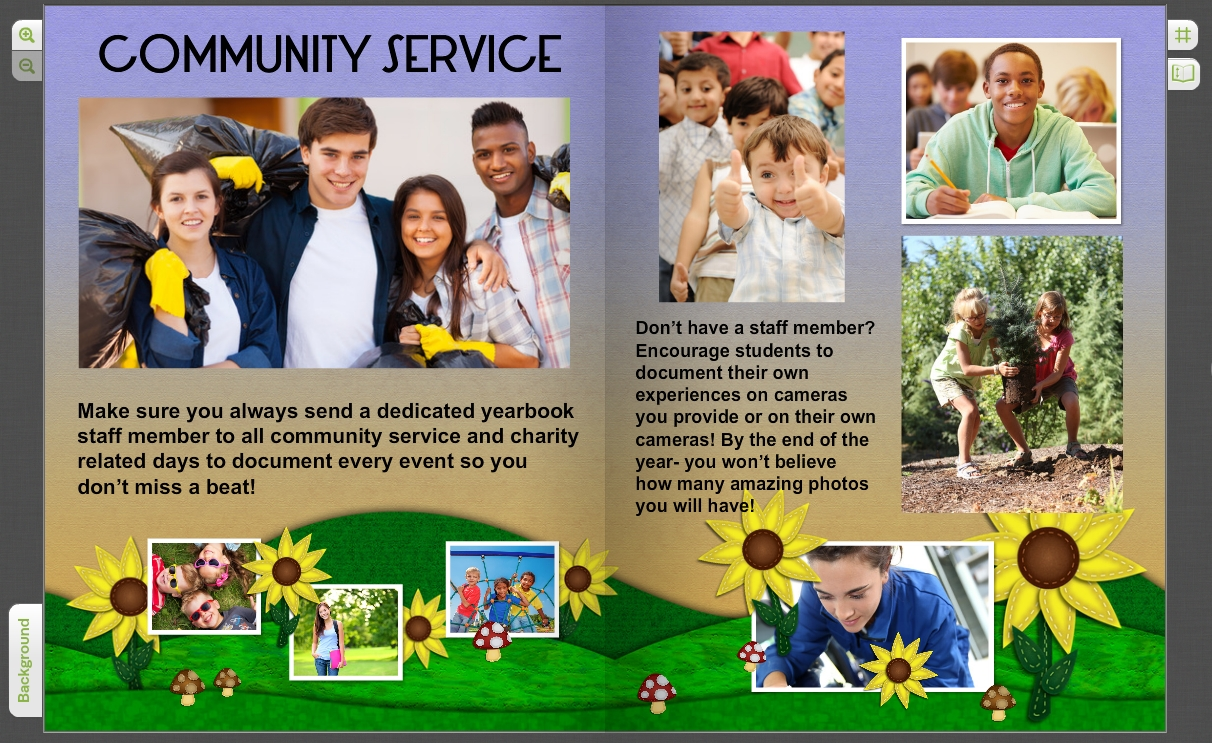 10 Gorgeous Yearbook Page Ideas For High School yearbook pages for community service clubs student field trips 2 2020