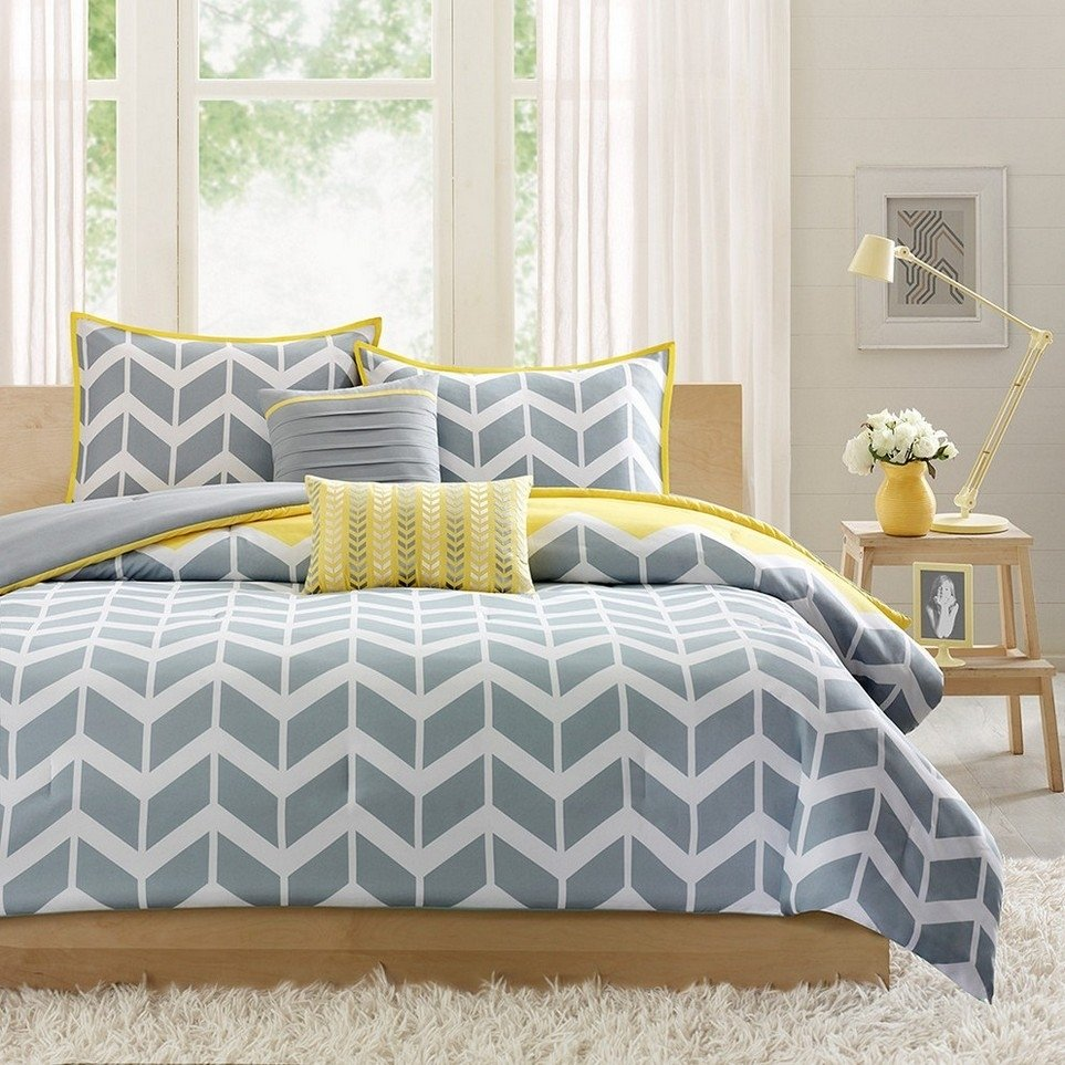10 Attractive Yellow And Gray Bedroom Ideas yellow and gray bedroom to get better sleeping quality 2020