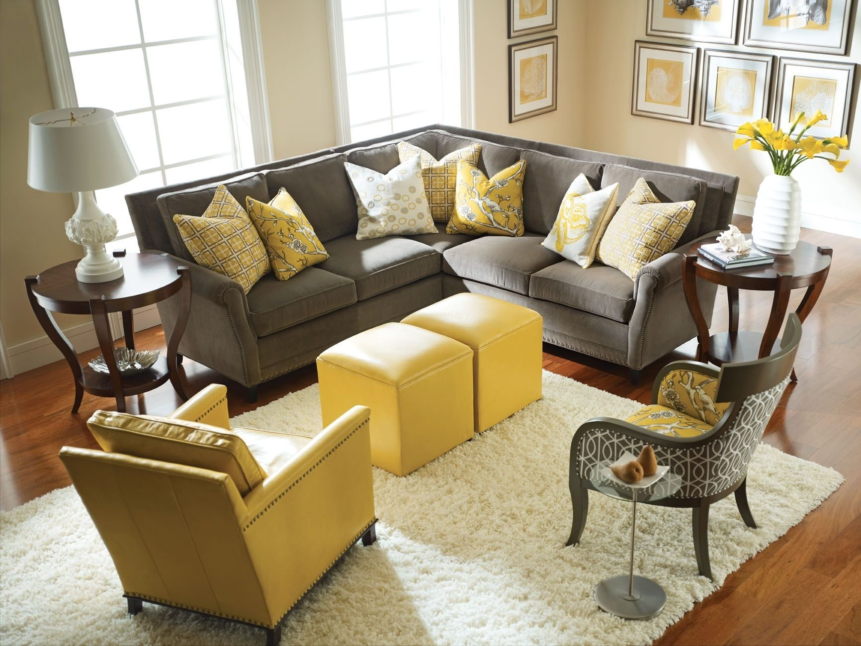yellow and gray rooms | grey room, grey living rooms and living room