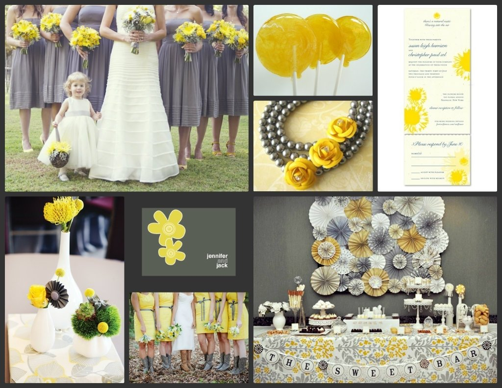 10 Cute Yellow And Gray Wedding Ideas yellow and gray wedding green bride guide when cody and i get