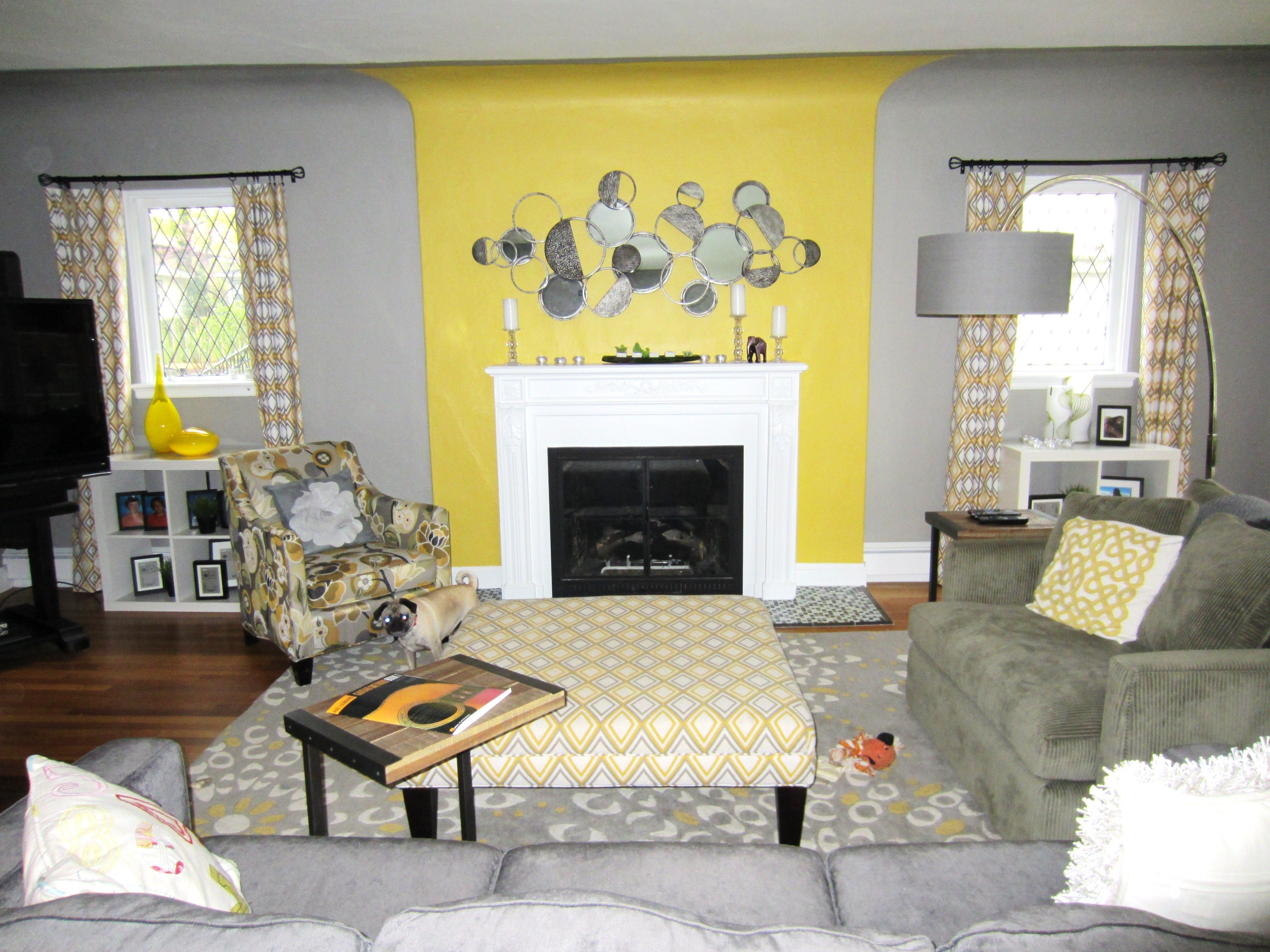 10 Beautiful Gray And Yellow Living Room Ideas yellow and grey living room beautiful interior design grey yellow 2020