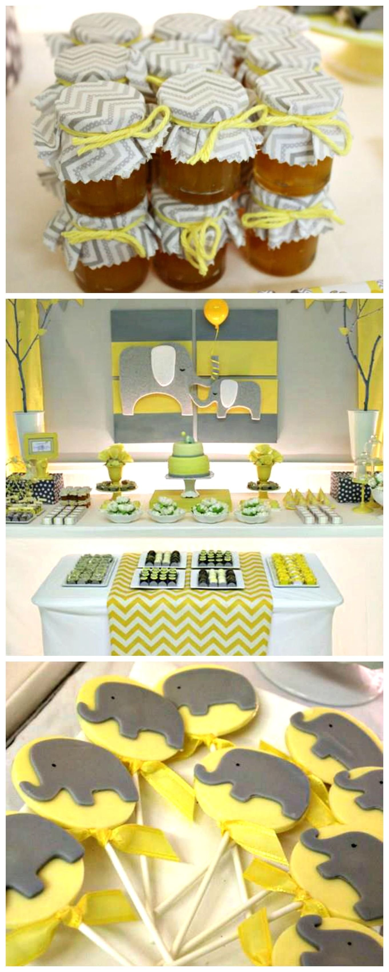 10 Trendy Yellow And Gray Baby Shower Ideas yellow gray chevron baby shower ideas elephant theme gunner 2020