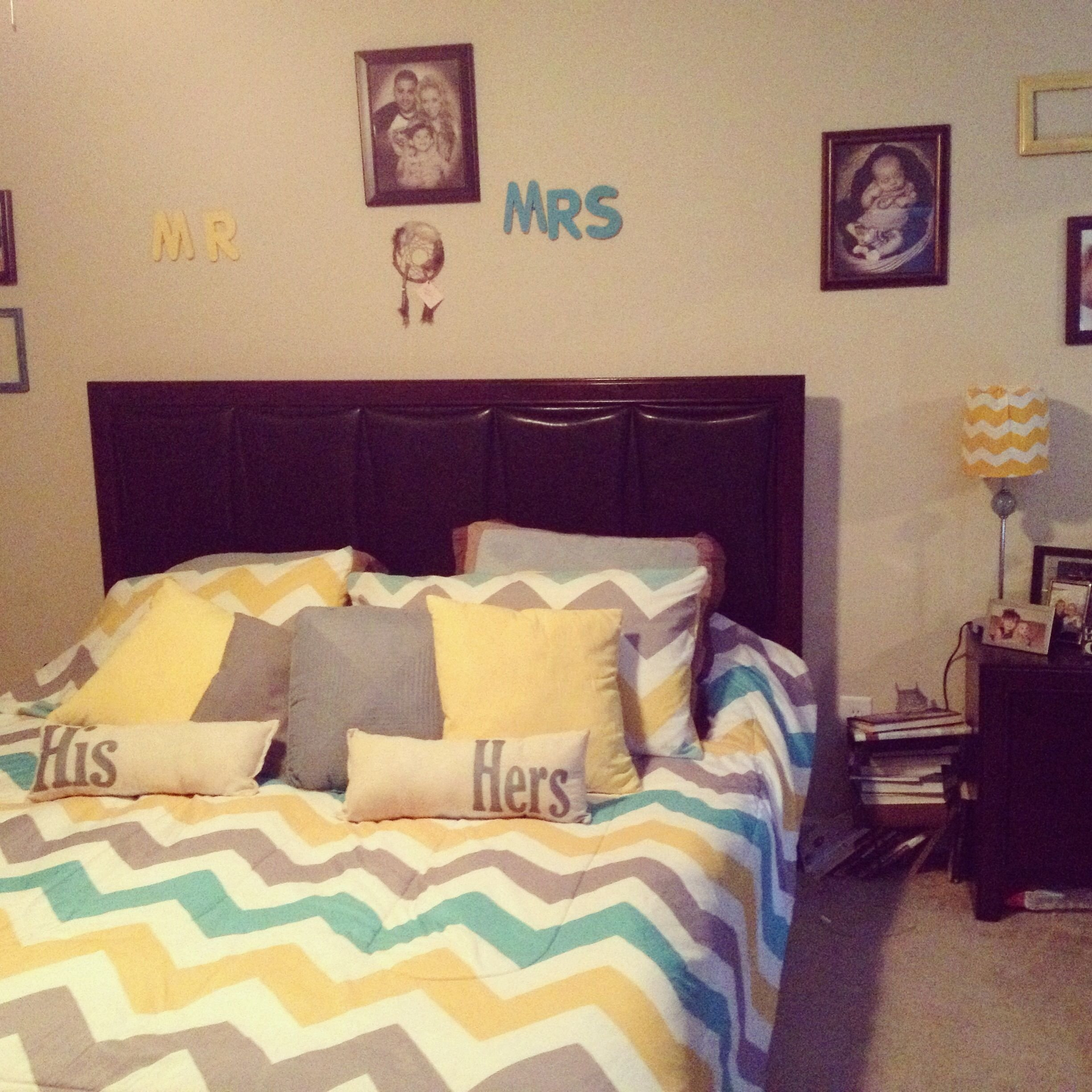 10 Attractive Yellow And Gray Bedroom Ideas yellow gray teal chevron bedroom flores house new house 2020