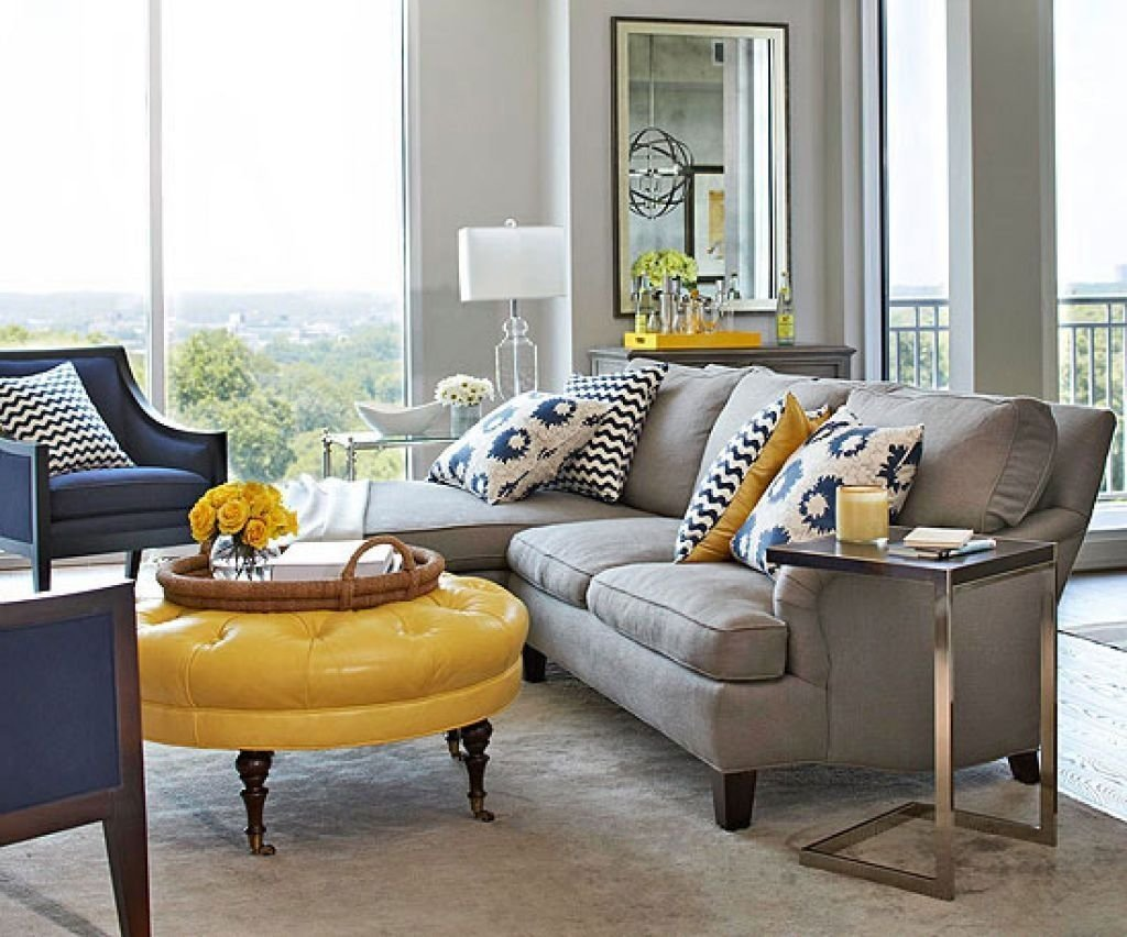 10 Beautiful Grey And Yellow Living Room Ideas yellow living room ideas navy blue grey black grey and yellow living 2 2020