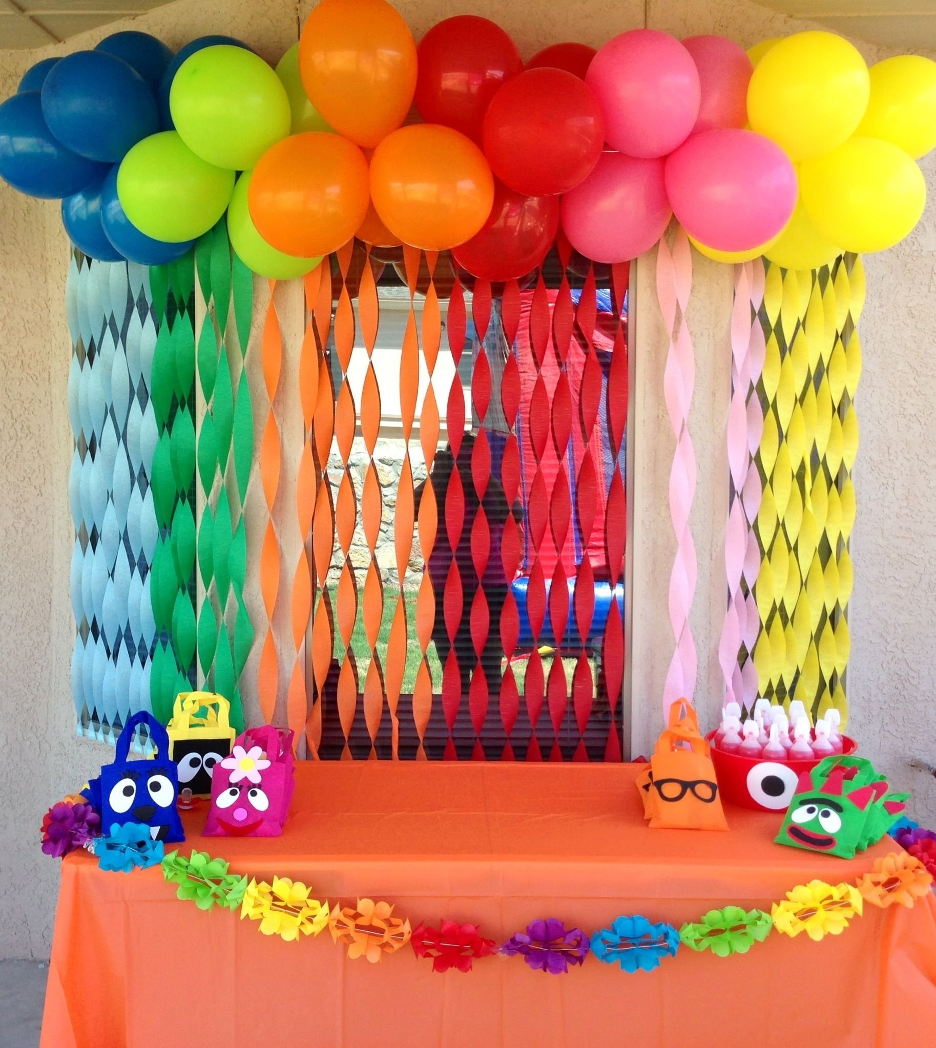 10 Spectacular Decoration Ideas For Birthday Party yo gabba gabba birthday party birthdays pinterest yo gabba 3 2020