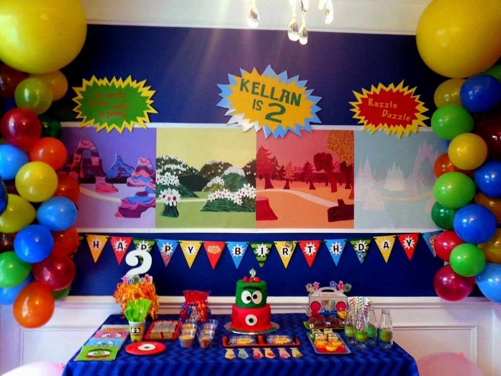 yo gabba gabba birthday party centerpieces archives - decorating of