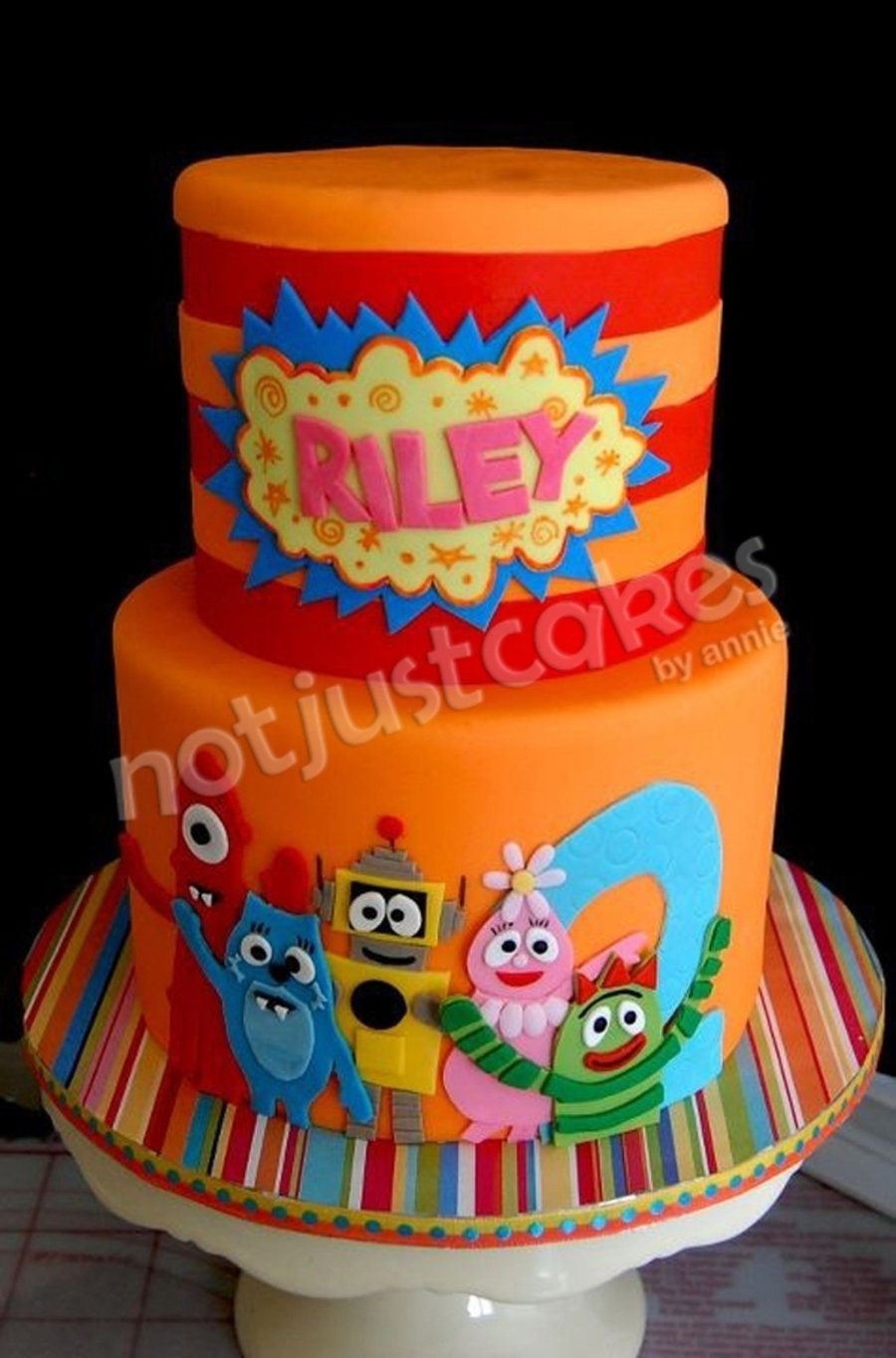 yo gabba gabba cake and sweets for riley - cakecentral