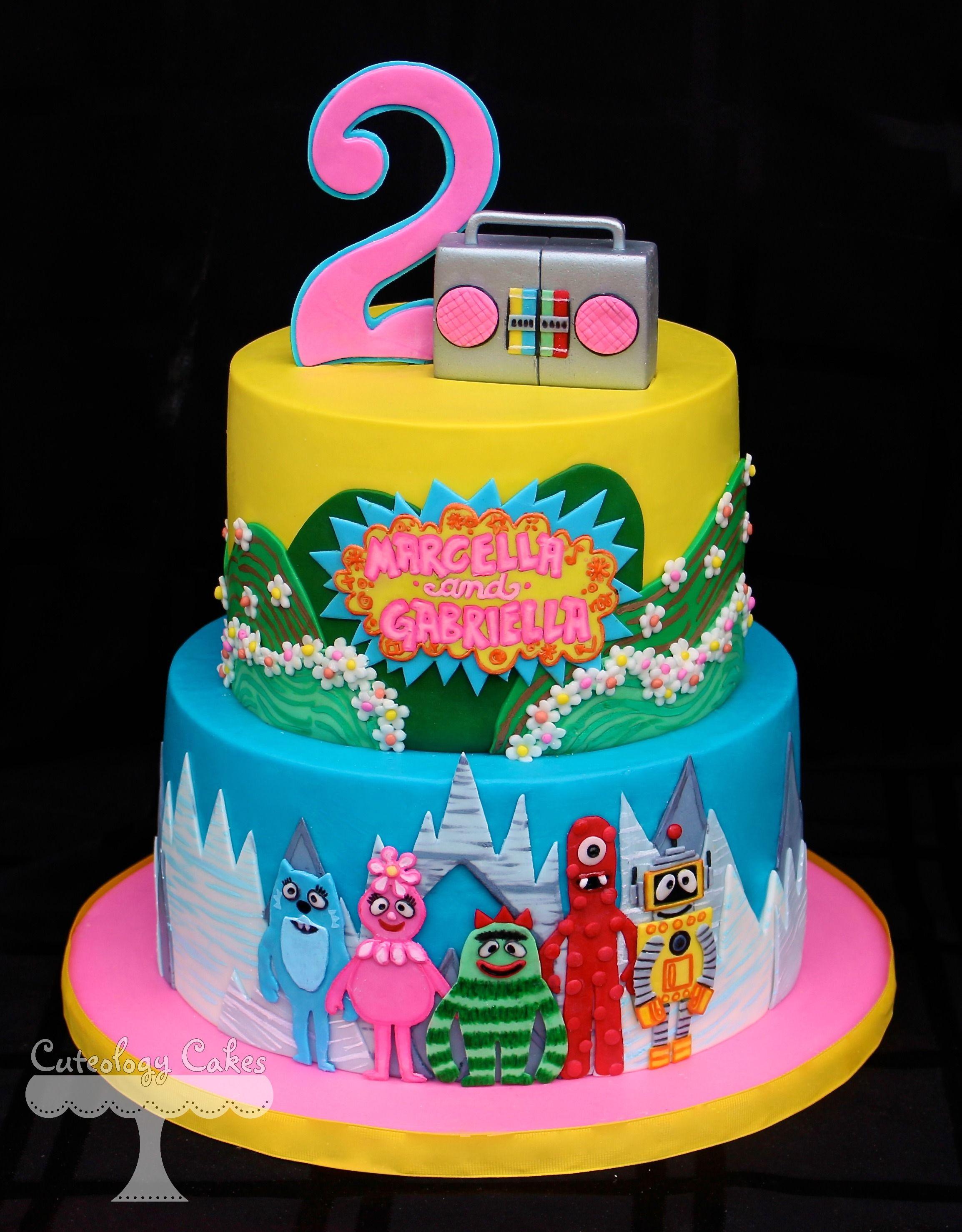 10 Gorgeous Yo Gabba Gabba Cakes Ideas yo gabba gabba cake sweet treats fun cakes festa 2020