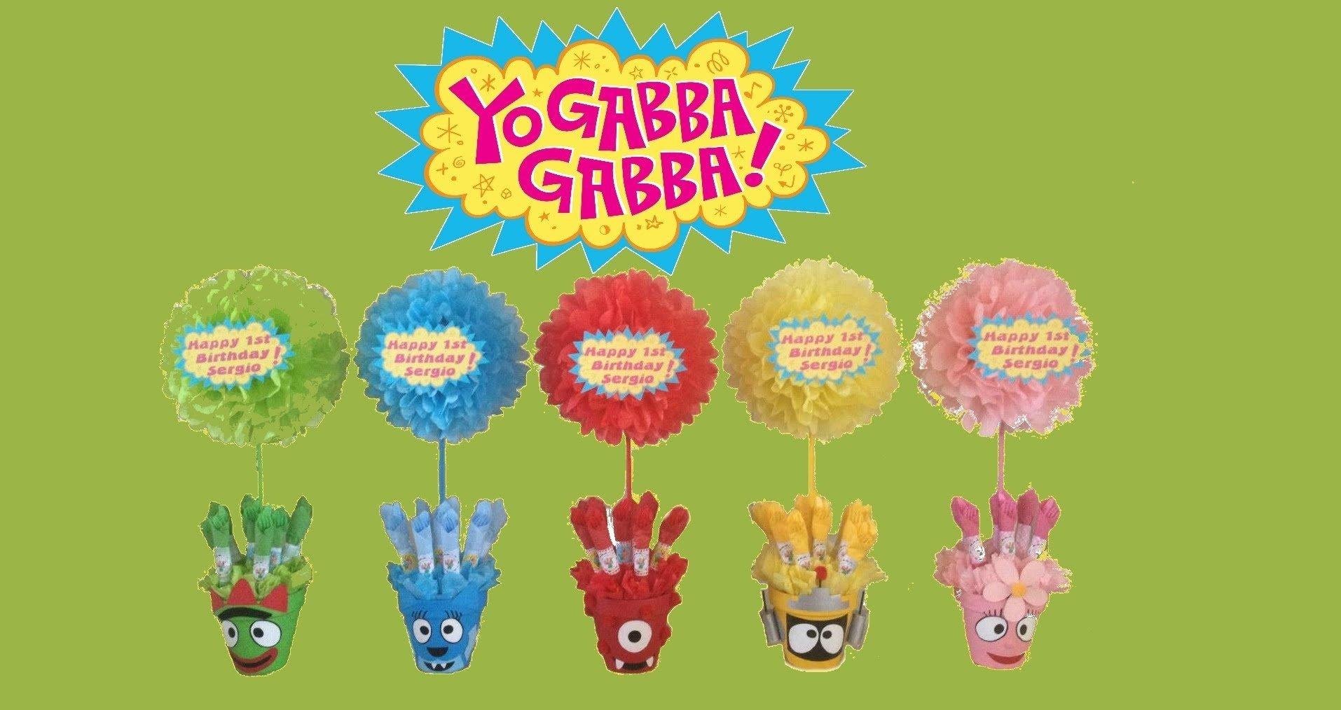 10 Attractive Yo Gabba Gabba Birthday Ideas yo gabba gabba party centerpieces youtube 2