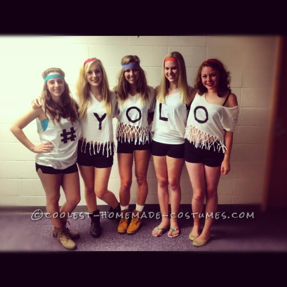 10 Best Group Costume Ideas For 4 People yolo funny girl group costume girl group costumes girl group and yolo