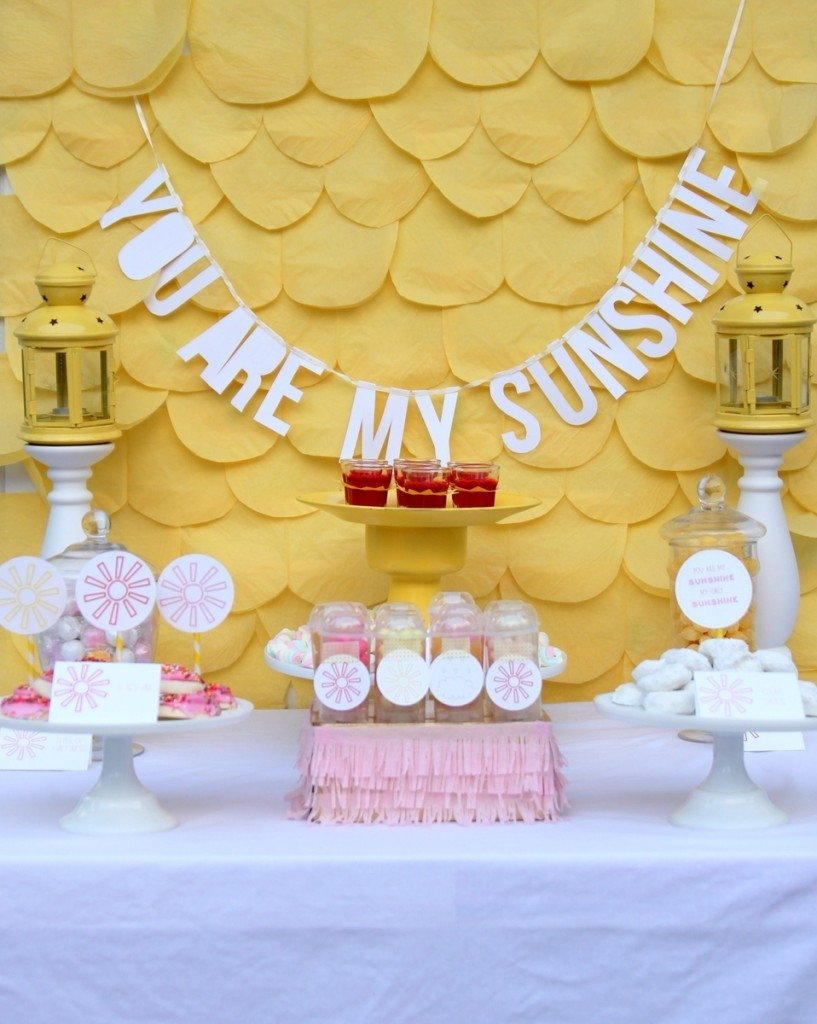 10 Stunning Pink And Yellow Baby Shower Ideas you are my sunshine baby shower and some cheerful baby shower ideas 2020